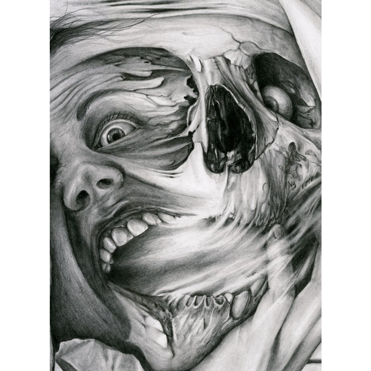 Black and gray tattoo art