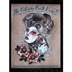The Coloring Book Project: A Collection by 100 Artists from around the world by Mike Devries & Various Artists